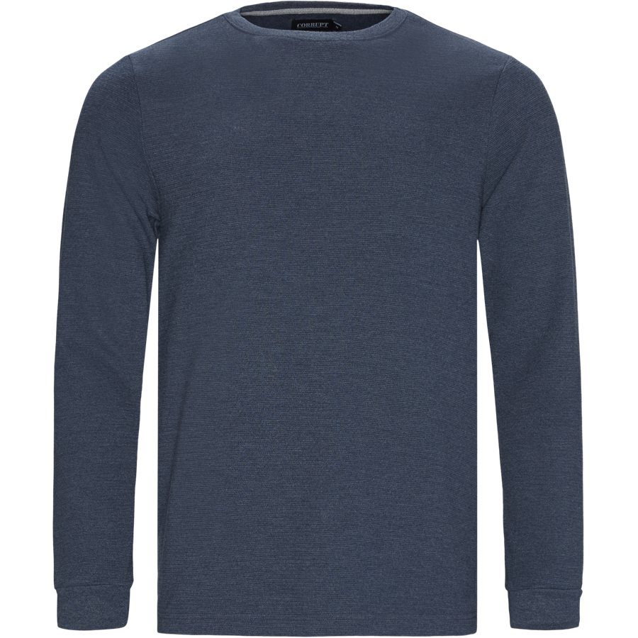 PERTH - Perth LS Tee - T-shirts - Regular - DENIM MELANGE - 1